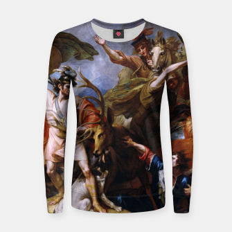 Miniatur The Death of the Stag by Benjamin West Women sweater, Live Heroes