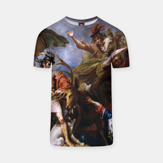 Miniatur The Death of the Stag by Benjamin West T-shirt, Live Heroes