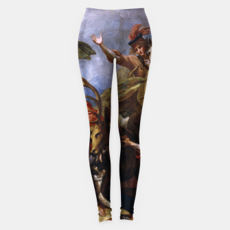 Miniatur The Death of the Stag by Benjamin West Leggings, Live Heroes