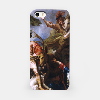 Miniatur The Death of the Stag by Benjamin West iPhone Case, Live Heroes
