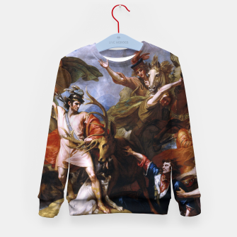 Miniatur The Death of the Stag by Benjamin West Kid's sweater, Live Heroes