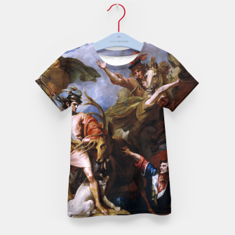 Miniatur The Death of the Stag by Benjamin West Kid's t-shirt, Live Heroes