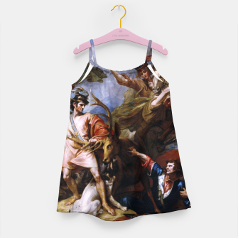 Miniatur The Death of the Stag by Benjamin West Girl's dress, Live Heroes