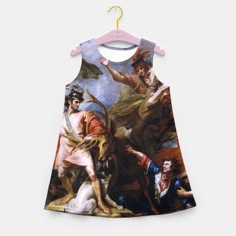 Miniatur The Death of the Stag by Benjamin West Girl's summer dress, Live Heroes