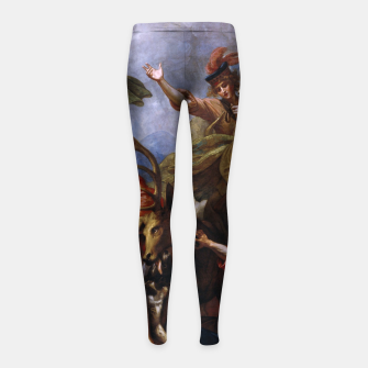 Miniatur The Death of the Stag by Benjamin West Girl's leggings, Live Heroes