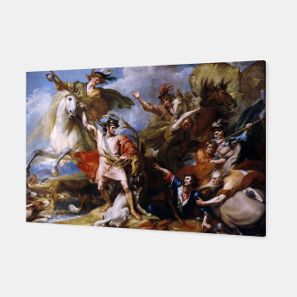 Miniatur The Death of the Stag by Benjamin West Canvas, Live Heroes