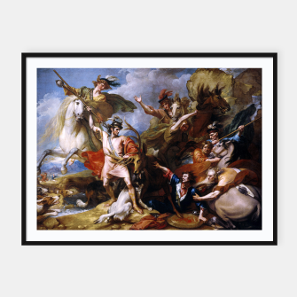 Imagen en miniatura de The Death of the Stag by Benjamin West Framed poster, Live Heroes