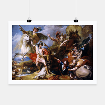 Miniatur The Death of the Stag by Benjamin West Poster, Live Heroes