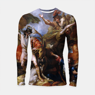 Miniatur The Death of the Stag by Benjamin West Longsleeve rashguard , Live Heroes
