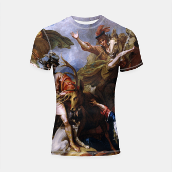 Imagen en miniatura de The Death of the Stag by Benjamin West Shortsleeve rashguard, Live Heroes