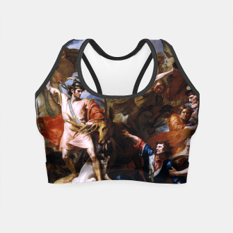 Miniatur The Death of the Stag by Benjamin West Crop Top, Live Heroes