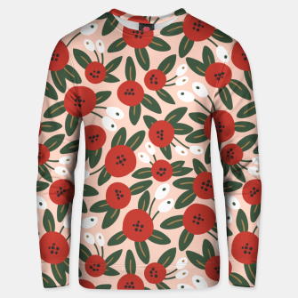 Thumbnail image of Red graphic bloom Sudadera unisex, Live Heroes