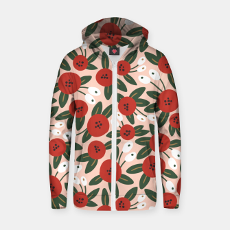 Thumbnail image of Red graphic bloom Sudadera con capucha y cremallera , Live Heroes