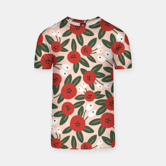 Thumbnail image of Red graphic bloom Camiseta, Live Heroes