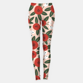 Thumbnail image of Red graphic bloom Leggings, Live Heroes