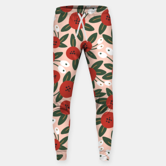 Thumbnail image of Red graphic bloom Pantalones de chándal , Live Heroes