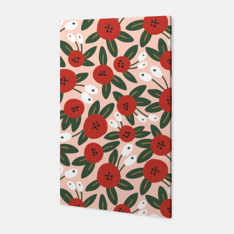 Thumbnail image of Red graphic bloom Canvas, Live Heroes