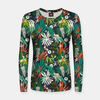 Elephants in the graphic jungle Sudadera para mujeres Bild der Miniatur