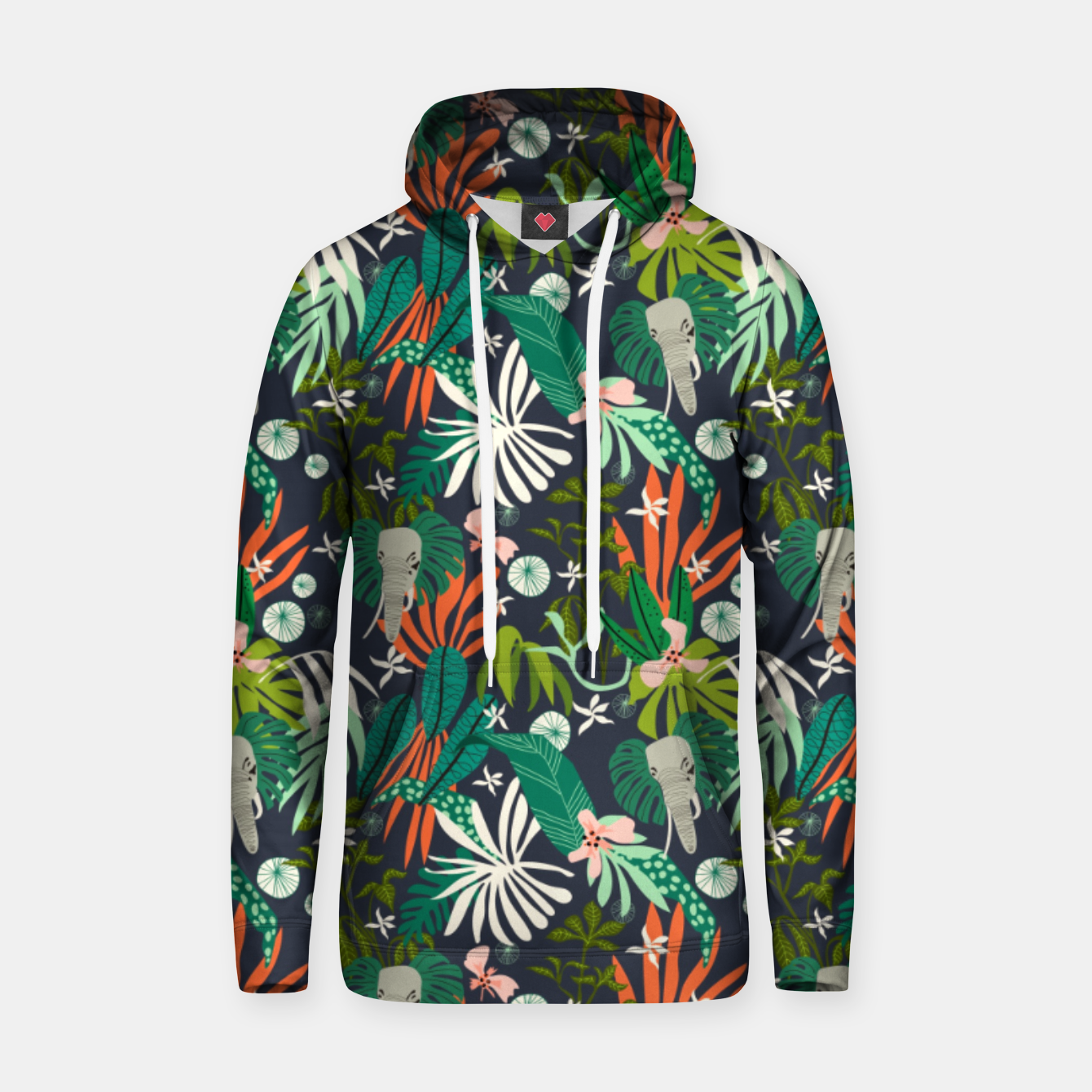 Foto Elephants in the graphic jungle Sudadera con capucha - Live Heroes