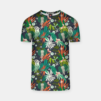 Elephants in the graphic jungle Camiseta Bild der Miniatur