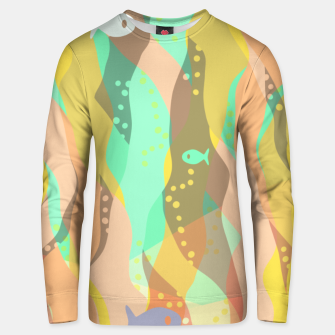 Thumbnail image of Life at the bottom of the ocean, abstract underwater print Unisex sweater, Live Heroes