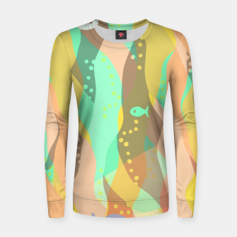 Thumbnail image of Life at the bottom of the ocean, abstract underwater print Women sweater, Live Heroes