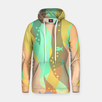 Thumbnail image of Life at the bottom of the ocean, abstract underwater print Hoodie, Live Heroes