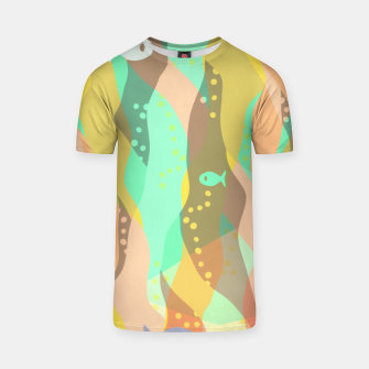 Thumbnail image of Life at the bottom of the ocean, abstract underwater print T-shirt, Live Heroes