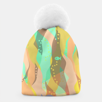 Thumbnail image of Life at the bottom of the ocean, abstract underwater print Beanie, Live Heroes