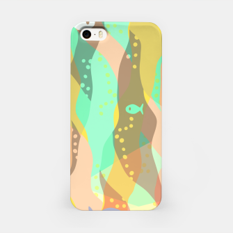 Thumbnail image of Life at the bottom of the ocean, abstract underwater print iPhone Case, Live Heroes