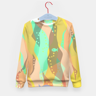 Thumbnail image of Life at the bottom of the ocean, abstract underwater print Kid's sweater, Live Heroes
