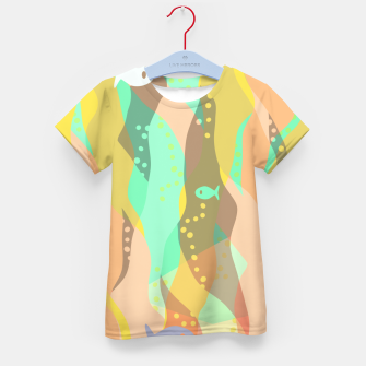Thumbnail image of Life at the bottom of the ocean, abstract underwater print Kid's t-shirt, Live Heroes