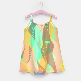 Thumbnail image of Life at the bottom of the ocean, abstract underwater print Girl's dress, Live Heroes