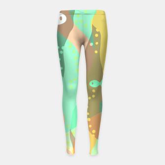 Thumbnail image of Life at the bottom of the ocean, abstract underwater print Girl's leggings, Live Heroes