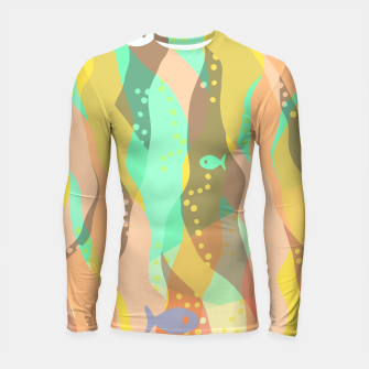 Thumbnail image of Life at the bottom of the ocean, abstract underwater print Longsleeve rashguard , Live Heroes