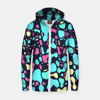 Thumbnail image of Cosmos, abstract colorful space print  Zip up hoodie, Live Heroes