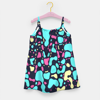 Thumbnail image of Cosmos, abstract colorful space print  Girl's dress, Live Heroes
