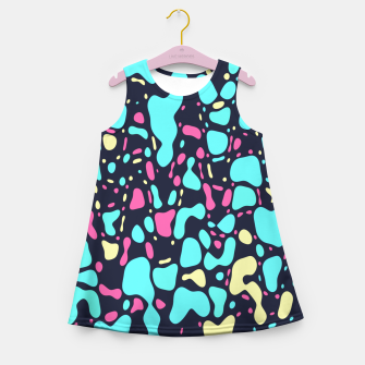 Thumbnail image of Cosmos, abstract colorful space print  Girl's summer dress, Live Heroes