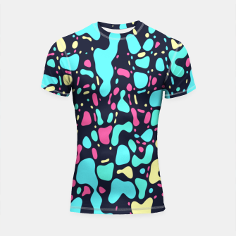 Thumbnail image of Cosmos, abstract colorful space print  Shortsleeve rashguard, Live Heroes