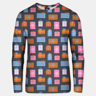 Thumbnail image of Gift Box Pattern Unisex sweater, Live Heroes
