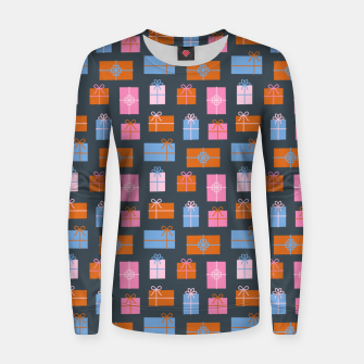 Thumbnail image of Gift Box Pattern Women sweater, Live Heroes