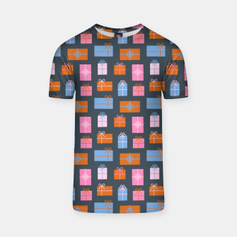 Thumbnail image of Gift Box Pattern T-shirt, Live Heroes