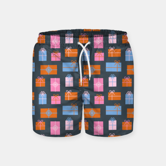 Gift Box Pattern Swim Shorts Bild der Miniatur