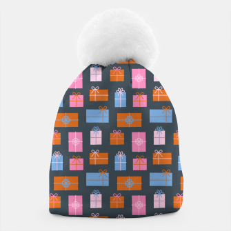 Thumbnail image of Gift Box Pattern Beanie, Live Heroes