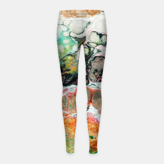Thumbnail image of Painted Reality Girl's leggings, Live Heroes