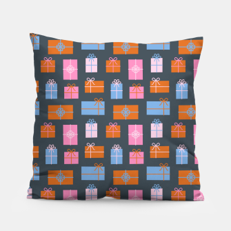 Thumbnail image of Gift Box Pattern Pillow, Live Heroes