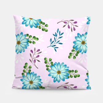 Thumbnail image of Tropical Leaves Jungle Pillow, Live Heroes