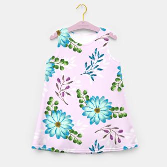 Thumbnail image of Tropical Leaves Jungle Girl's summer dress, Live Heroes