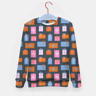Thumbnail image of Gift Box Pattern Kid's sweater, Live Heroes