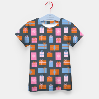Gift Box Pattern Kid's t-shirt Bild der Miniatur